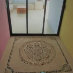 25.-Casa Lavanda - Roftop palapa entrance floor design